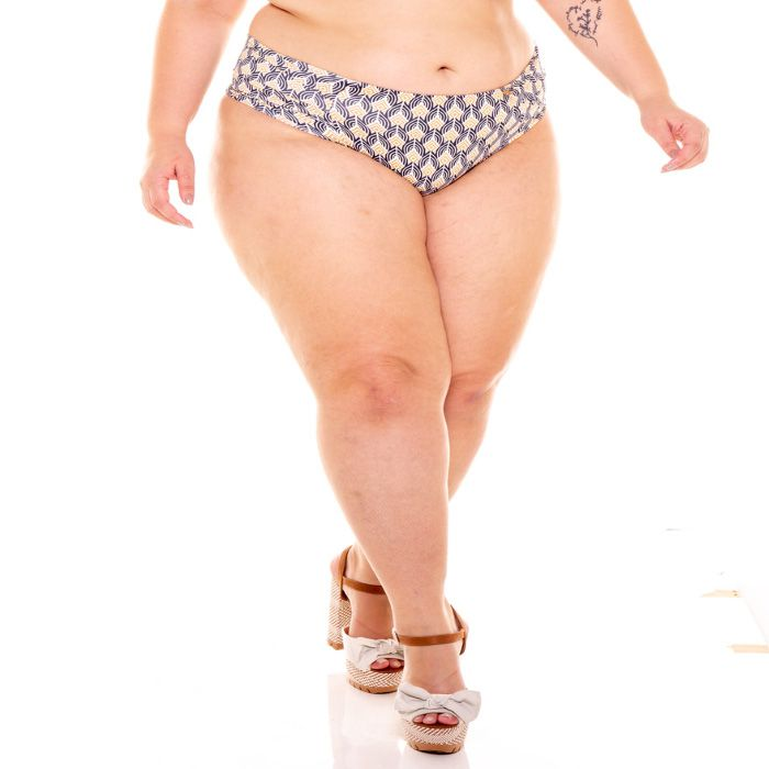 Tanga plus size calcinha biquíni bombom cintura alta verão