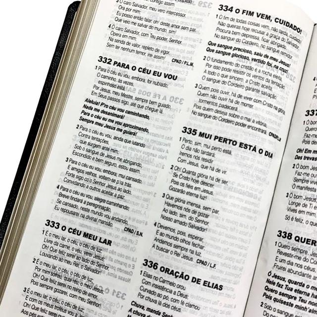 Bíblia de Estudo Pentecostal com Harpa Cristã - Média