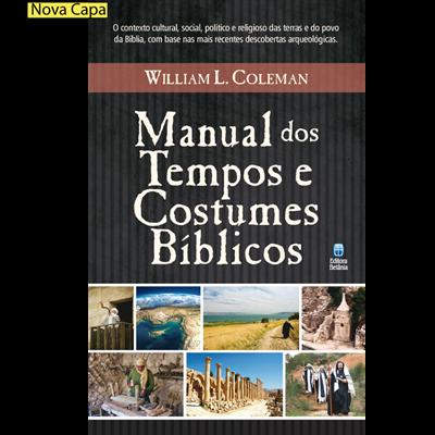 Livro - Manual dos tempos e costumes biblicos