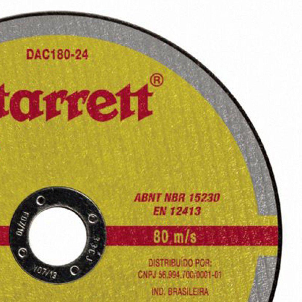 Disco de Corte de 7 Pol. Aço Inox - STARRETT (10 unidades)