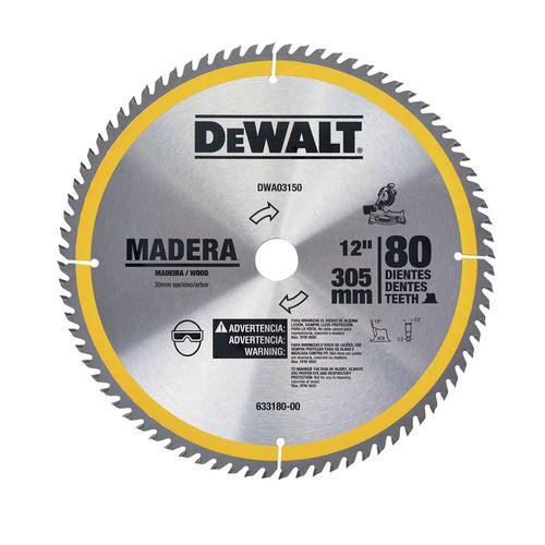 Disco De Serra De 12 Pol Madeira 80 Dentes Dewalt Dwa03150