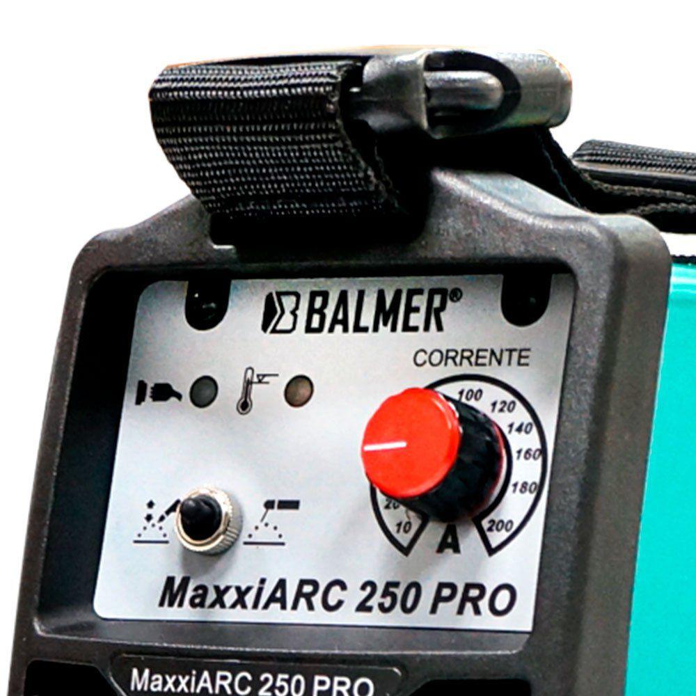 MÁQUINA DE SOLDA INVERSORA ER e TIG (DC) MAXXIARC 250 PRO 10 a 200A - BALMER-30079547/PRO