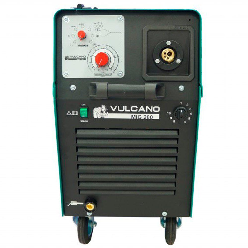 Máquina de Solda MIG/MAG 280A Trifásico 220/380V - Vulcano MIG 280