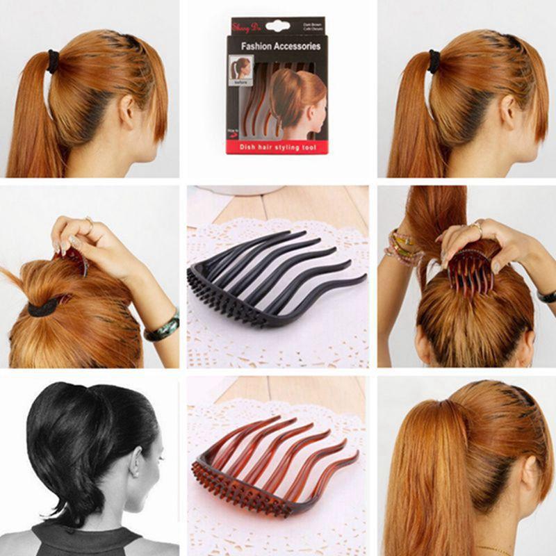 Acessório para cabelo - Pente com fixador - DISH HAIR STYLING TOOL