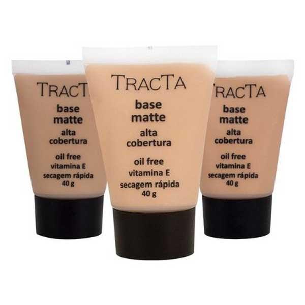Base Tracta Matte alta cobertura oil free 40g