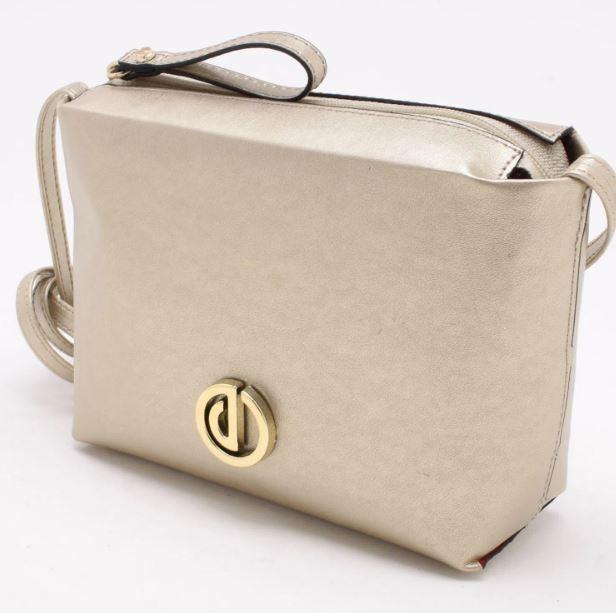 Bolsa Shoulder Bag Dumond Metalizada Ouro
