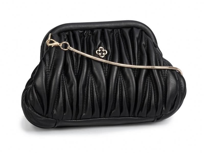 Bolsa Shoulder Bag Plessada Preta - Capodarte