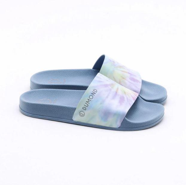Chinelo Dumond Slide Tie Dye Azul