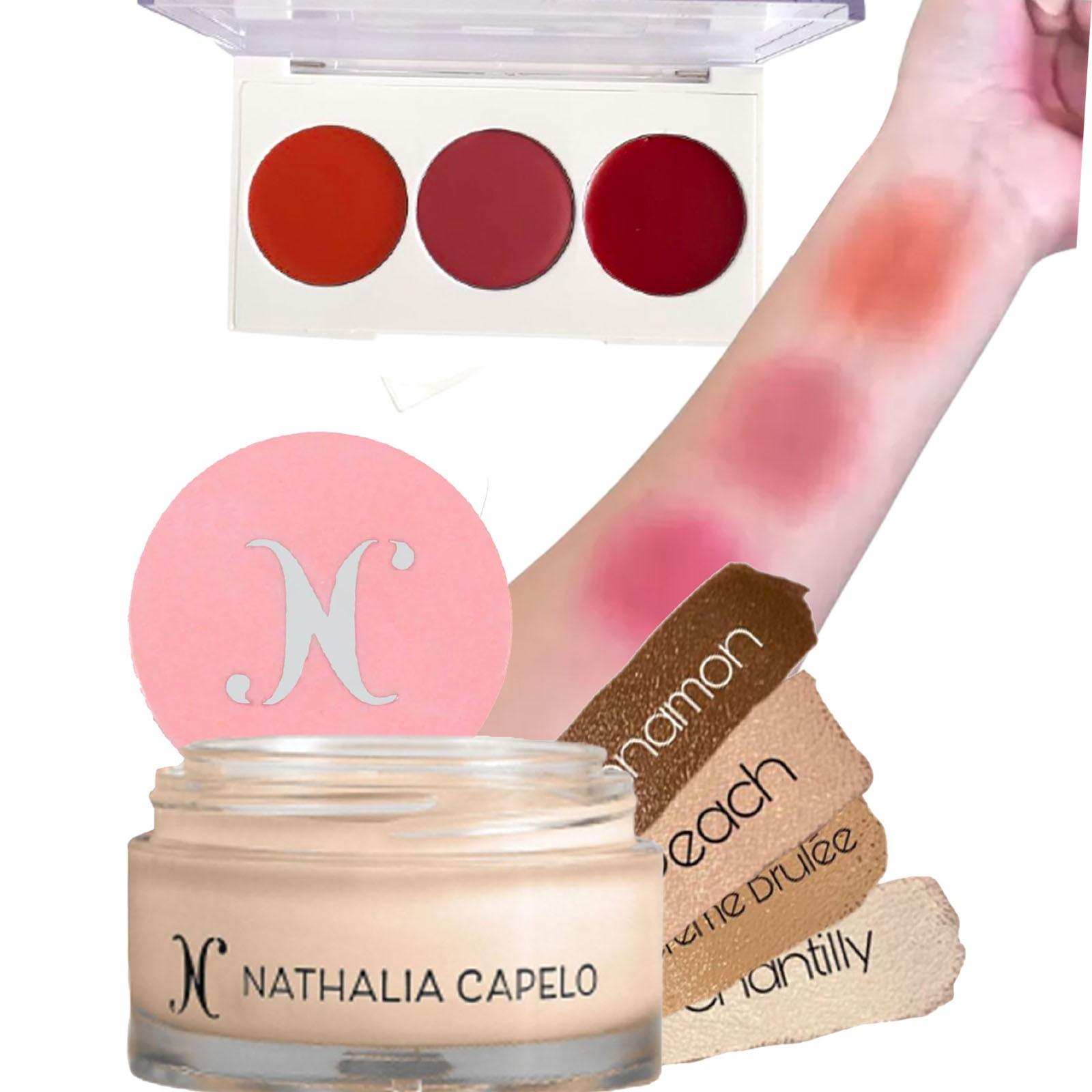 Kit Nathalia Capelo Camuflagem La mousse + Paleta de Blush & cheek