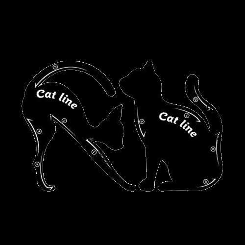 Delineador De Olho Fácil Molde Gato Flex Maquiagem - cat Line