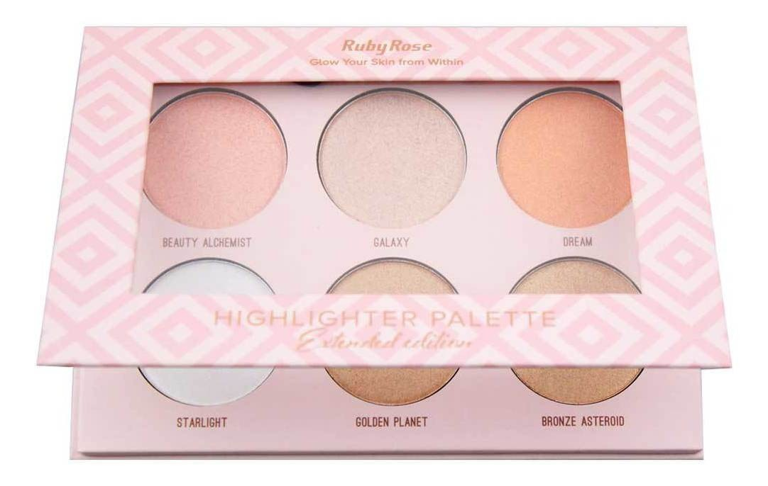 Iluminador Highlighter Palette - Original Ruby Rose HB-7501