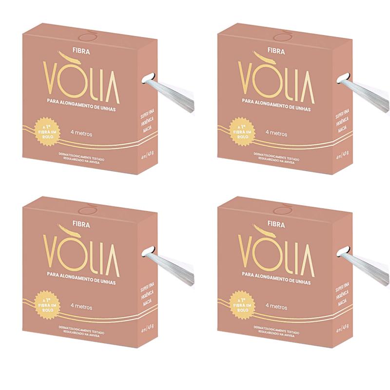 Kit 04 fibras de vidro para alongamento de unhas vólia