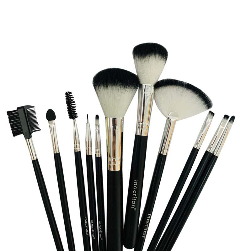 Kit 12 Pincéis para Maquiagem Macrilan