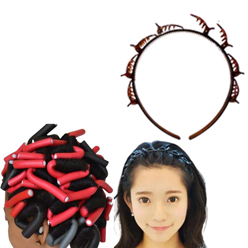 Kit Acessórios de cabelo Tiara Hair Twister + Bigudinho