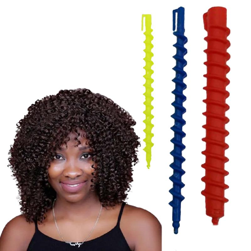 Kit Cabelo Afro Modelador de Cachos Spiral FIno e Grosso