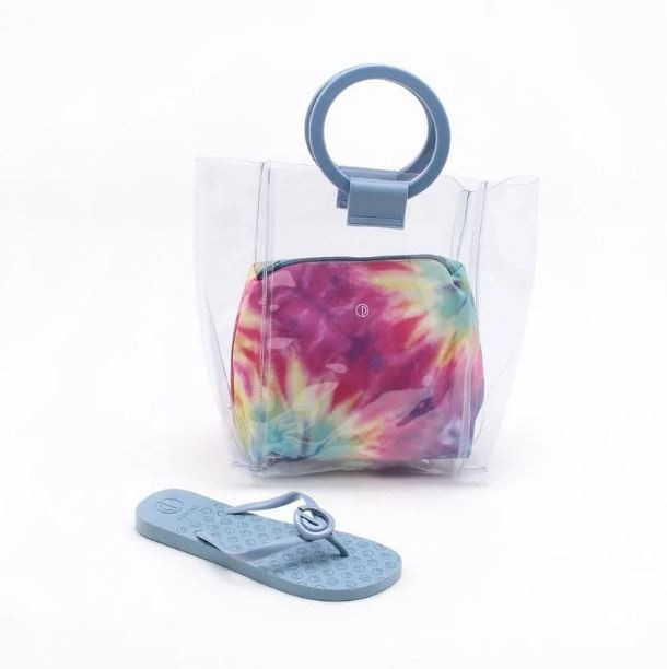 Kit Chinelo + Bolsa Shopper + Nécessaire Dumond Azul