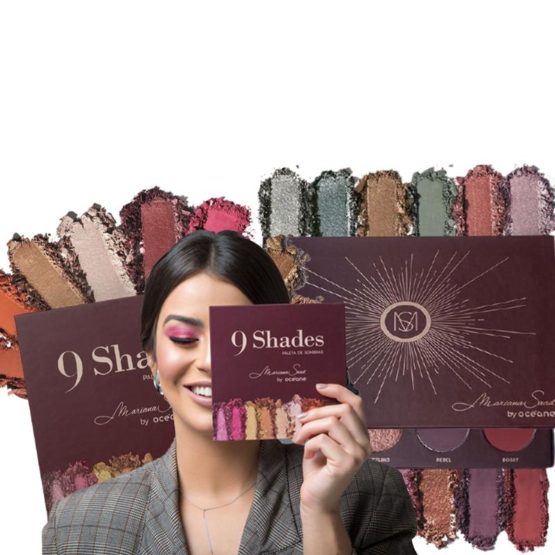 Kit Paleta de Sombras  9 Shades + 12 Shades By Océane Mariana Saad