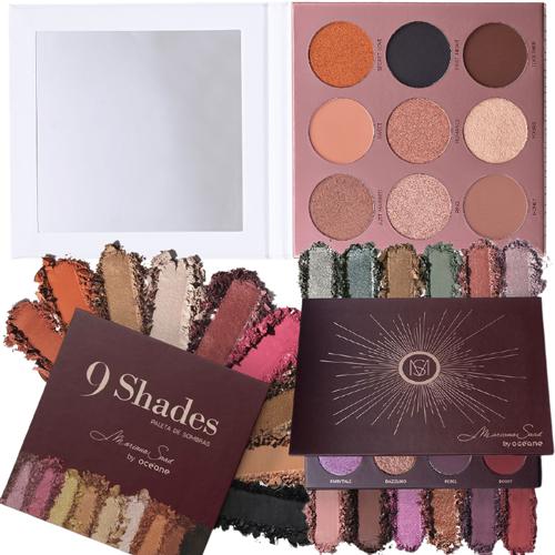 Kit Paleta de Sombras  9 Shades + 12 Shades By Océane Mariana Saad + Special Day