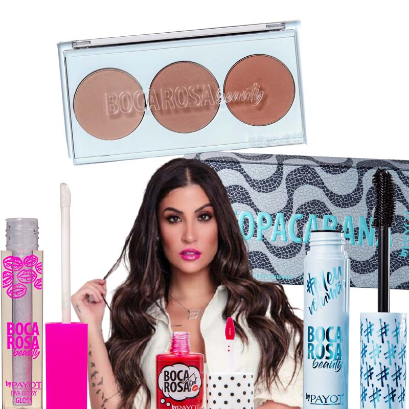 Kit Paleta de Contornos + Rímel + Gloss + Lip Tint Payot Boca Rosa