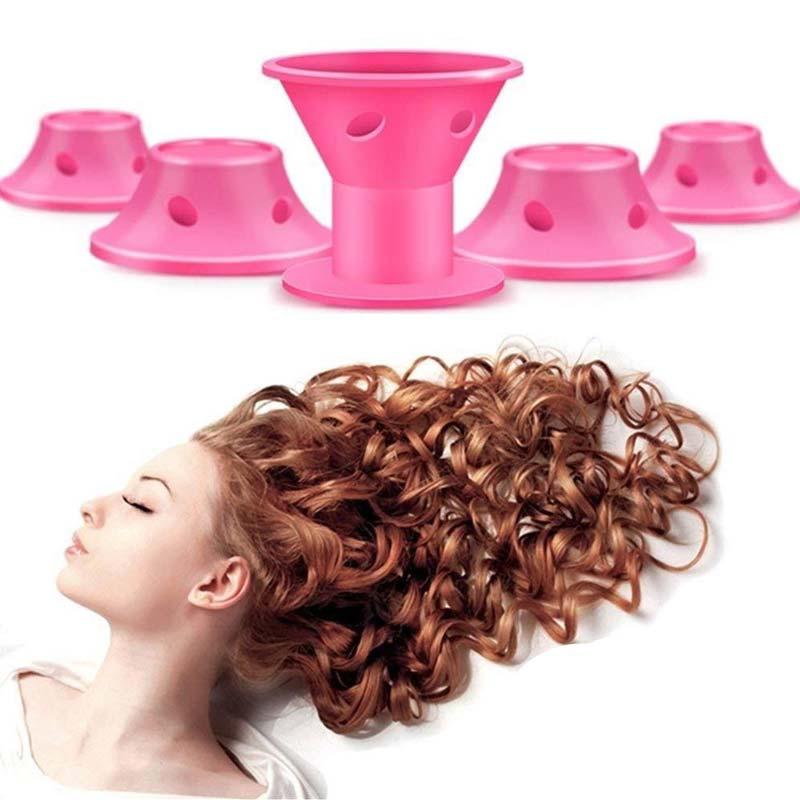 Cabelos Cacheados - Modelador de Cachos Fácil Hair Curler Macarron