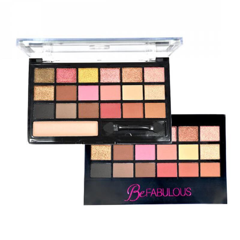 Paleta De 18 Sombras + 1 iluminador Be Fabulous - Ruby Rose