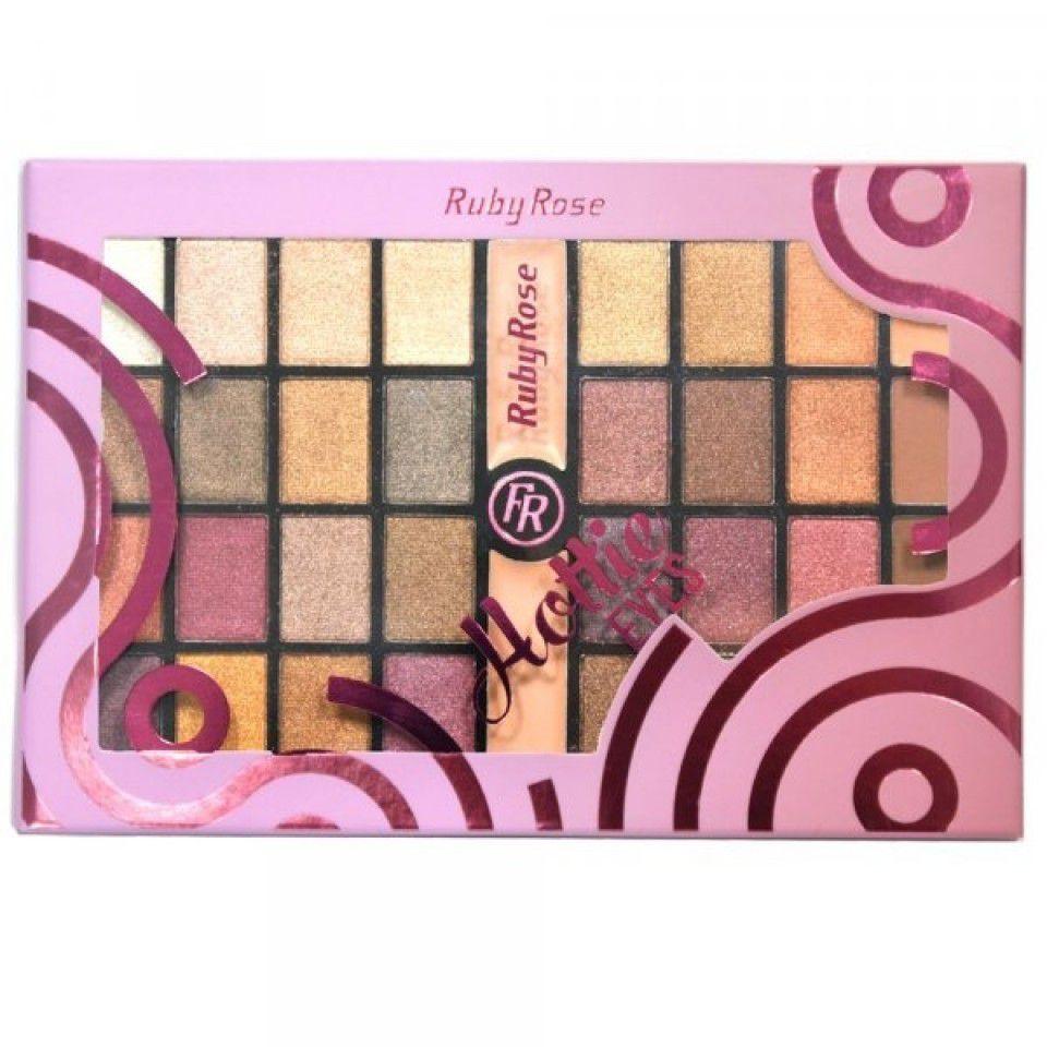 Paleta de 32 Sombras + 2 Primer Hottie Eyes Ruby Rose HB-9975