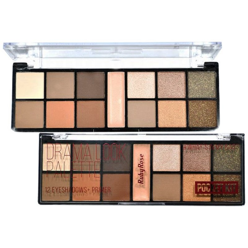 Paleta de Sombras Drama Look Pocket Kit Ruby Rose
