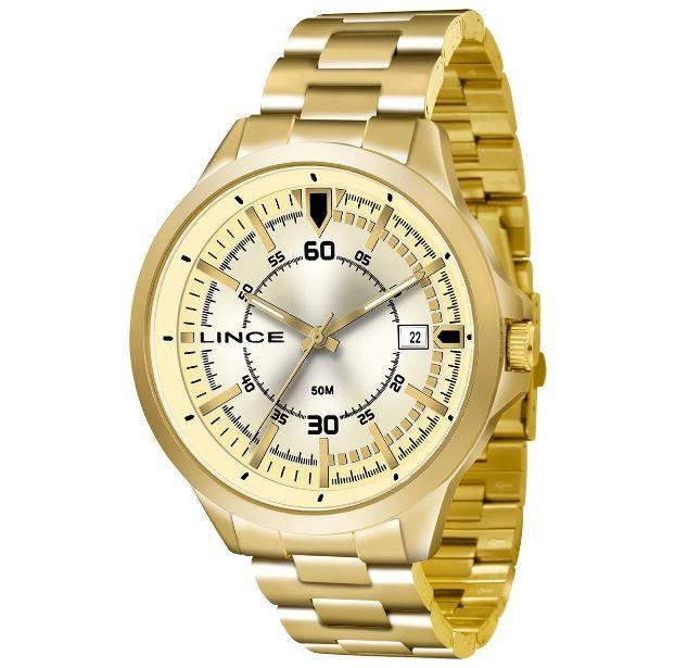 Relógio Analógico Masculino Lince MRG4358S C2KX Dourado