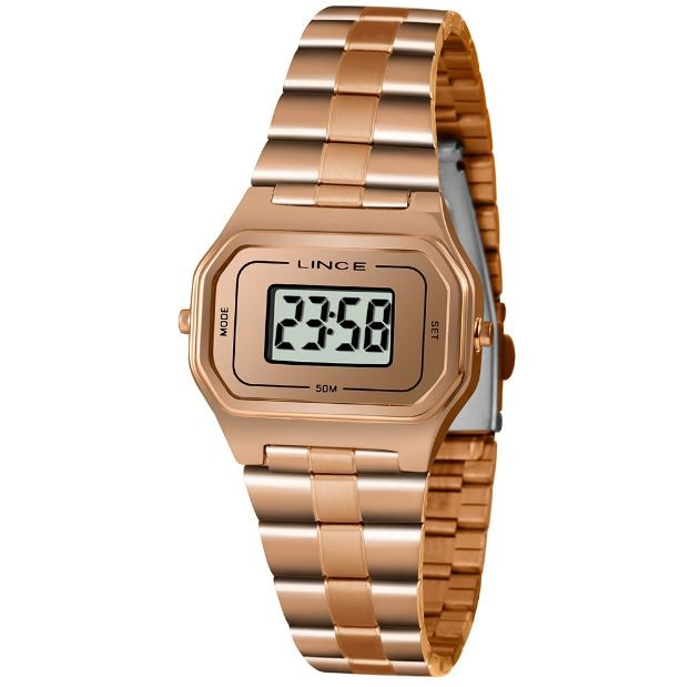 Relógio Digital Feminino Lince SDR4609L BXRX Rose