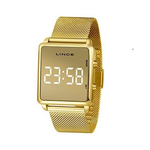 Relógio Feminino Digital Lince MDG4619L BXRX Dourado
