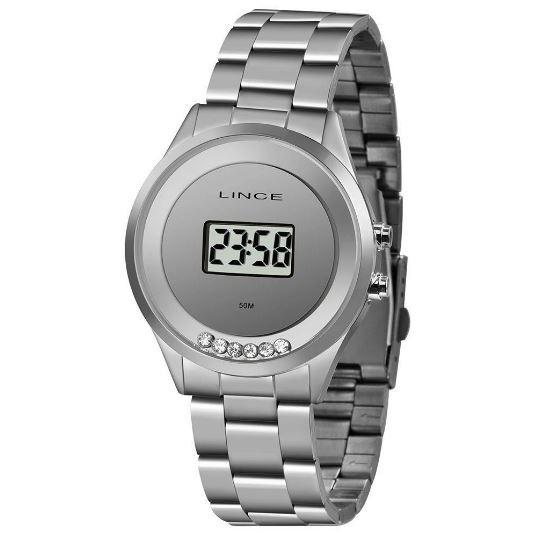Relógio Feminino Digital Lince SDM4610L BXSX Prata