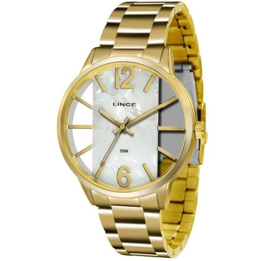 Relógio Feminino Glam Lince LRG 608L B2KX Dourado