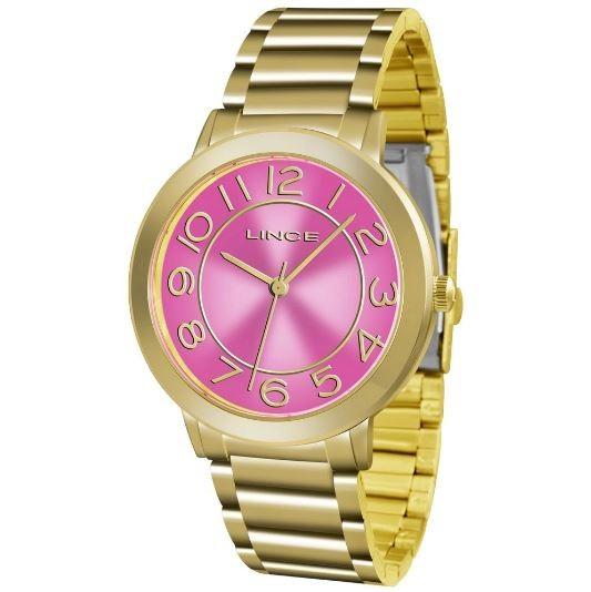 Relógio Feminino Lince LRGH046L R2KX Dourado/Rosa