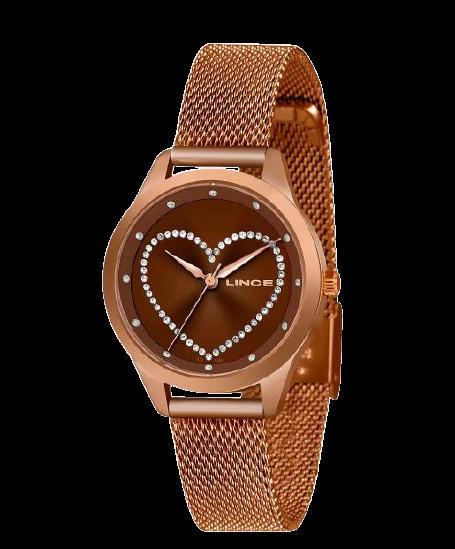 Relógio Feminino Lince Strass Coração LRB4557L N1NX