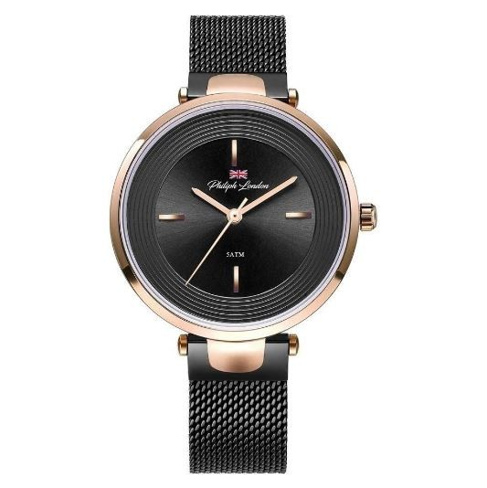 Relógio Feminino Philiph London PL81031113F PR Preto