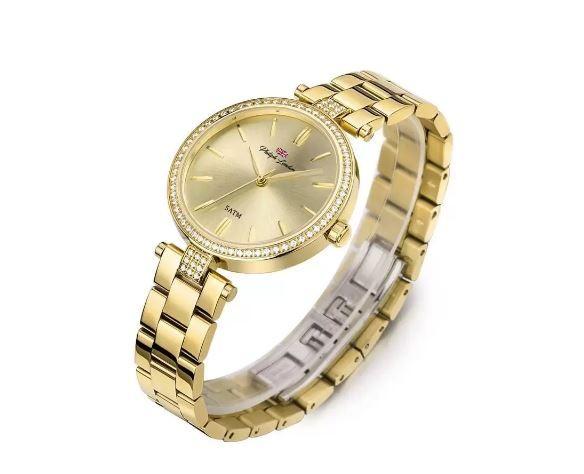 Relógio Feminino Social Philiph London PL81008145F Dourado