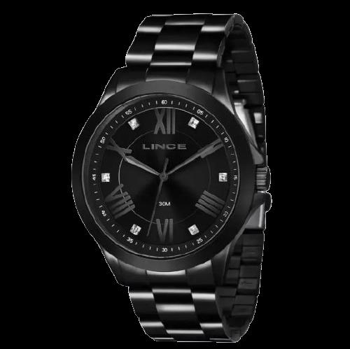 Relógio Feminino Strass Lince LRNJ046L P3PX Preto