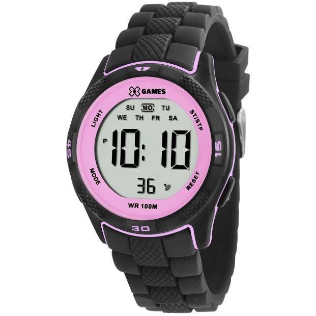 Relógio Feminino X Games XMPPD BXPX Preto/Rosa