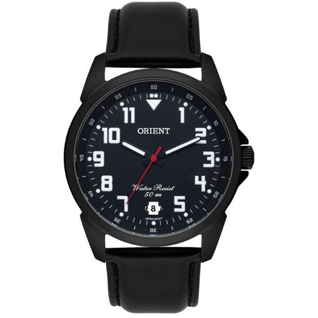 Relógio Masculino Analógico Couro Orient MPSC1009 P2PX Preto