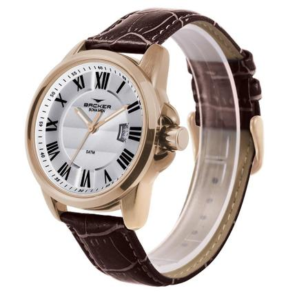 Relógio Masculino Backer Germany 16202242M Br Casual Marrom