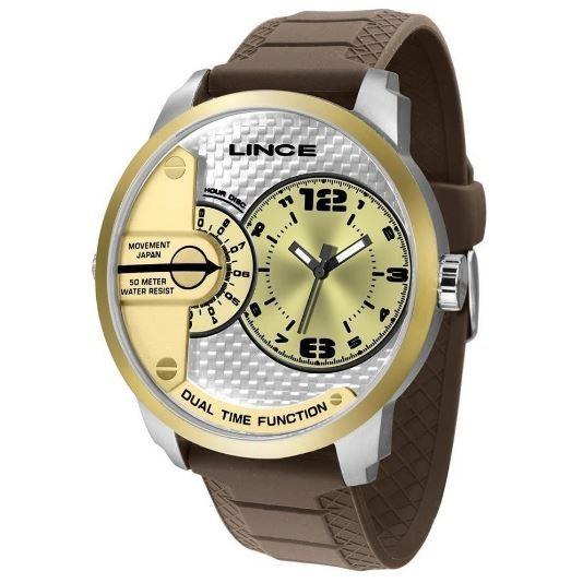 Relógio Masculino Big Case Lince MRPH080S C2NX Marrom/Prata