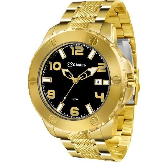 Relógio Masculino Big Case X GAMES XMGS1026 P2KX Dourado