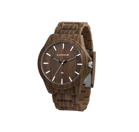 Relógio Masculino Casual Lince MRP4613P N1NX Amadeirado