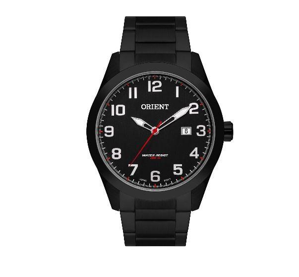 Relógio Masculino Couro Orient MBSC G2PX Preto