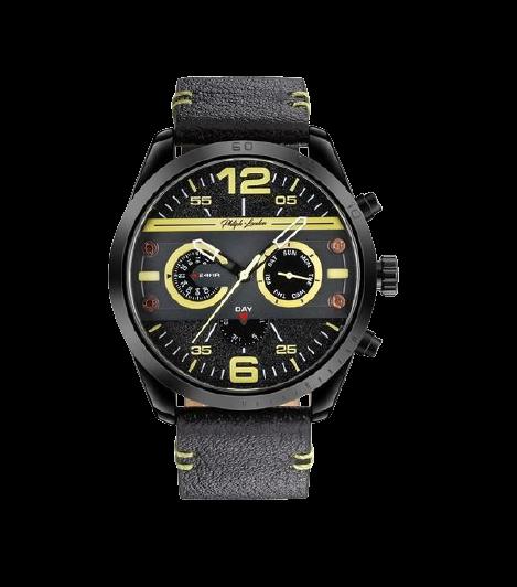 Relógio Masculino Cronógrafo Philiph London PL80009512M PR Preto