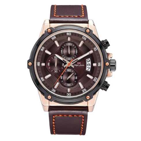 Relógio Masculino Cronógrafo Philiph London PL80028632M Marrom