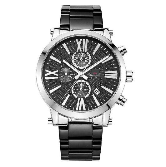 Relógio Masculino Cronógrafo Philiph London PL80047623M Preto