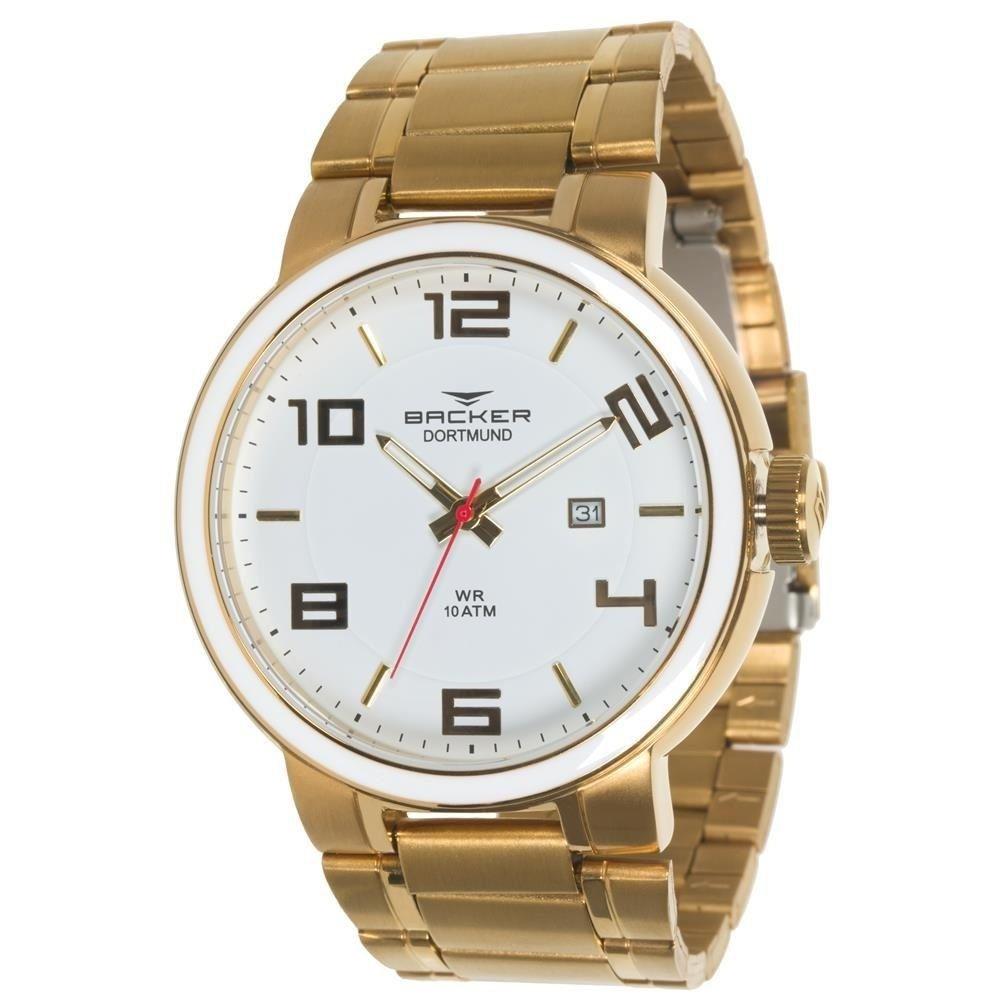 Relógio Masculino Dortmund Backer Germany 6410265M Br Dourado