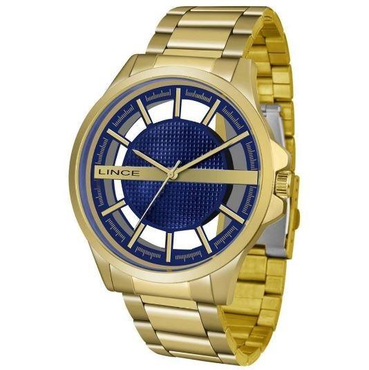 Relógio Masculino Lince MRG4579 D1KX Dourado