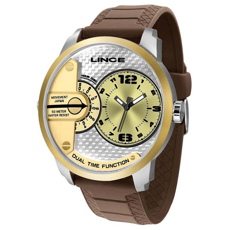 Relógio Masculino Lince MRPH080S C2NX Marrom/Prata